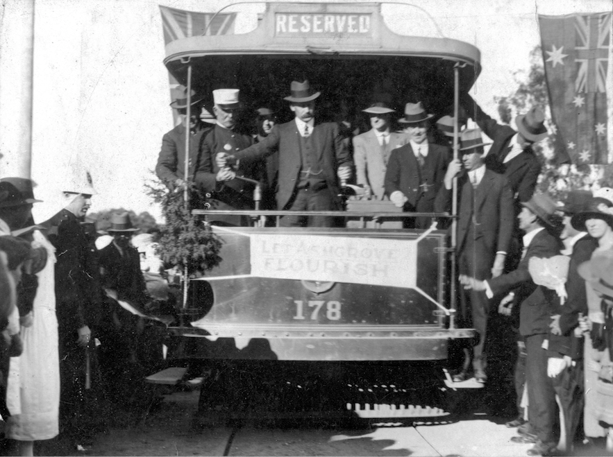 AS6 First Ashgrove tram 1924