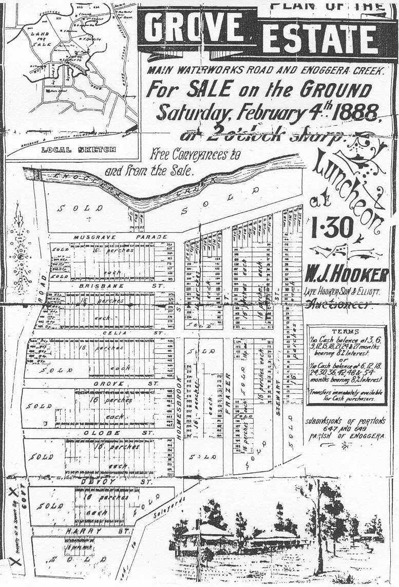 Scan of Grove Estate Plan from 1888