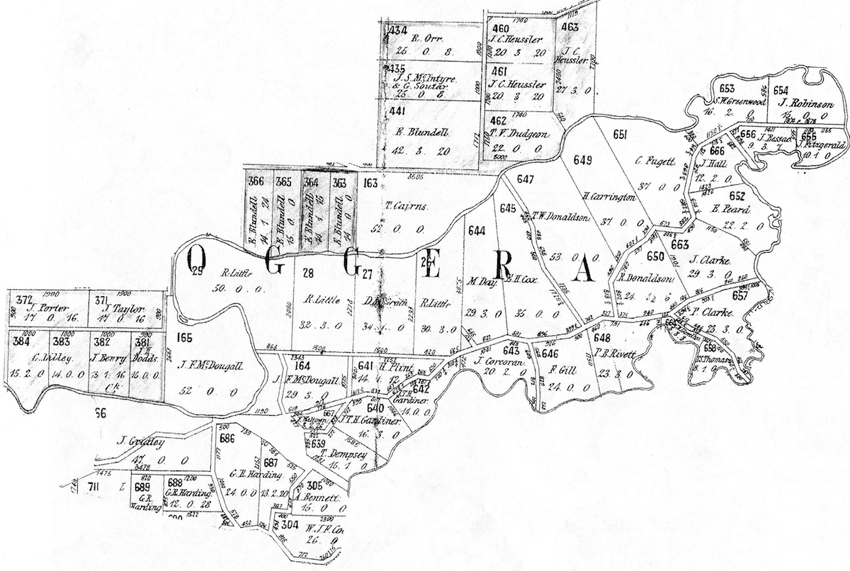 HS1 Ashgrove Titles Map 1875