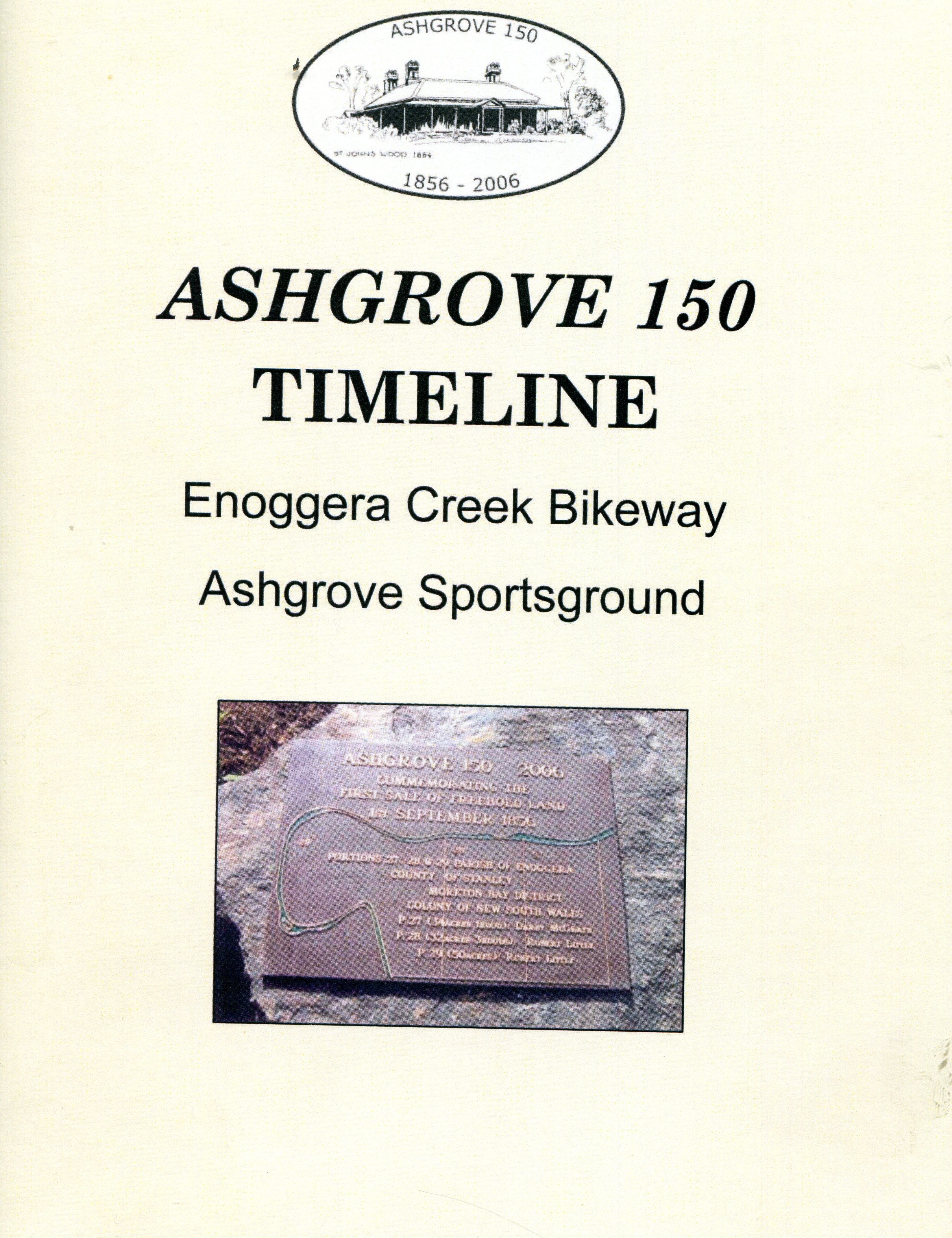 Thumbnail image of cover of Ashgrove 150 Plaques booklet