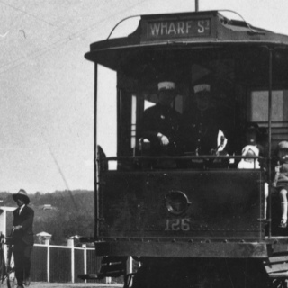 Ashgrove to Wharf St tram on Waterworks Road, 1929